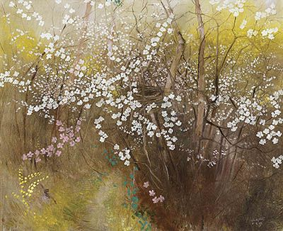 CLIFTON PUGH - Cherry Plum Blossom I (1988)