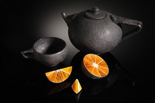 Elliot Walker Lemon Tea - Glass art.