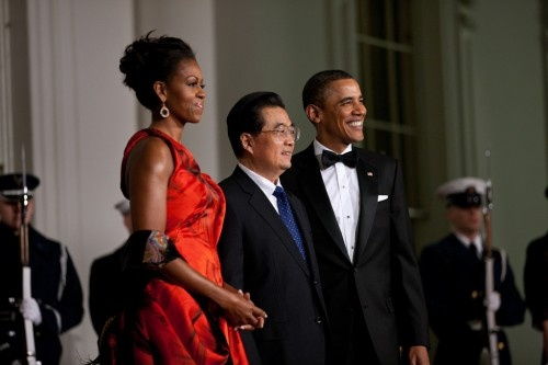 The First Lady looked incredible in her red Alexander McQueen that she wore to the state dinner for Chinese President Hu Jintao. In our poll of your favorite of the First Lady's formalwear, this stunning piece tied with a yellow Prabal Gurung for third place.        [gallery]