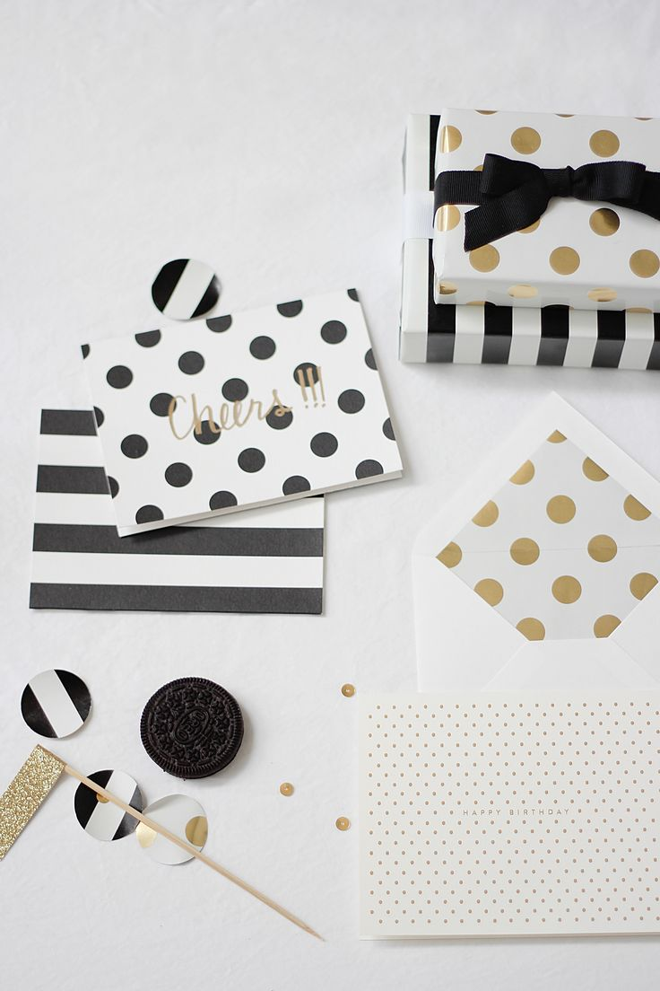 Black & White polka dots and stripes :: Gold, too! Ordered gold, silver, turquoise ...