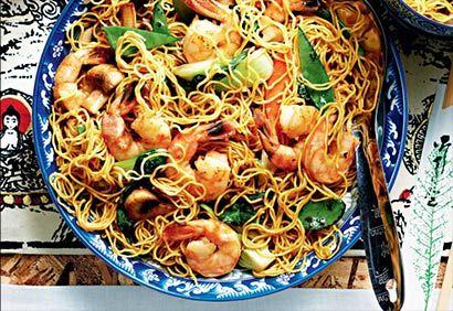 Nouilles Lo Mein aux crevettes