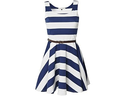 "I'm really lovin' me some nautical style striped dresses right now.  They just say ""summer"""