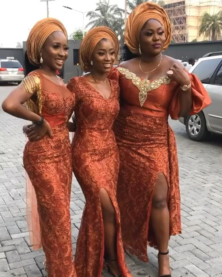 beautiful aso ebi ladies nigerian wedding guests outfit inspo