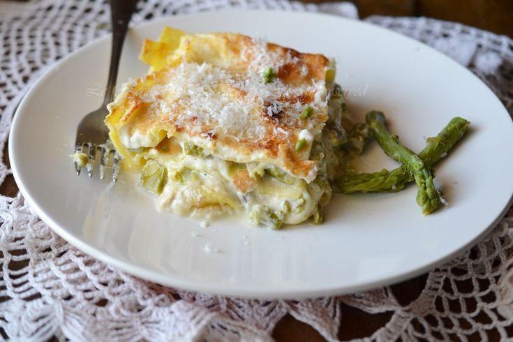 lasagna with asparagus and smoked cheese, lasagna, lasagna in white, lasagna without sauce, recipes tina,