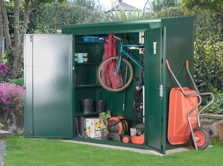 7 x 3 trojan combined bike and garden shed asgard - Garden Sheds 7 X 3