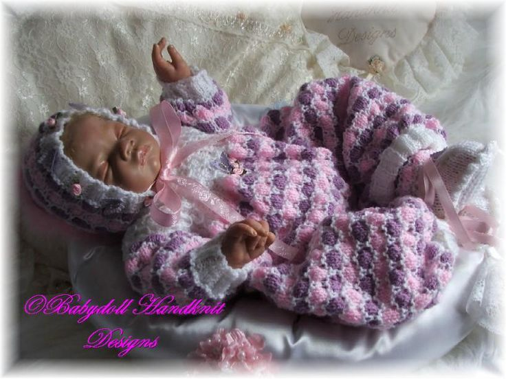 "FREE Multi-coloured romper/all-in-one 16-24"" doll/newborn/0-3m baby-romper, onsie, baby, doll"