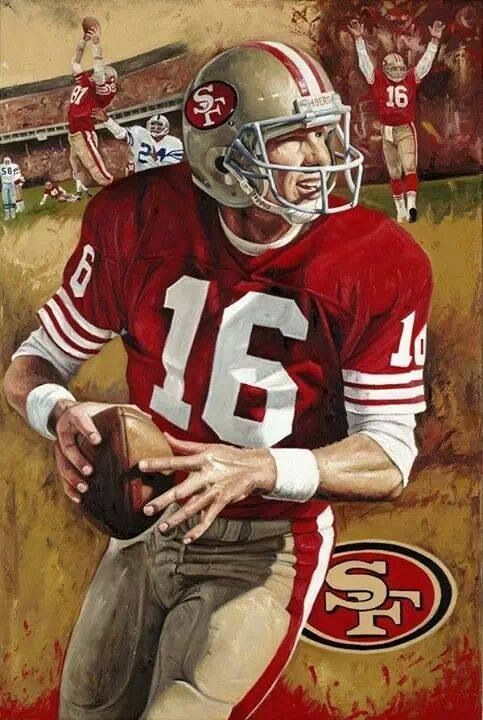 Joe Montana, one of the best quarterbacks ever.