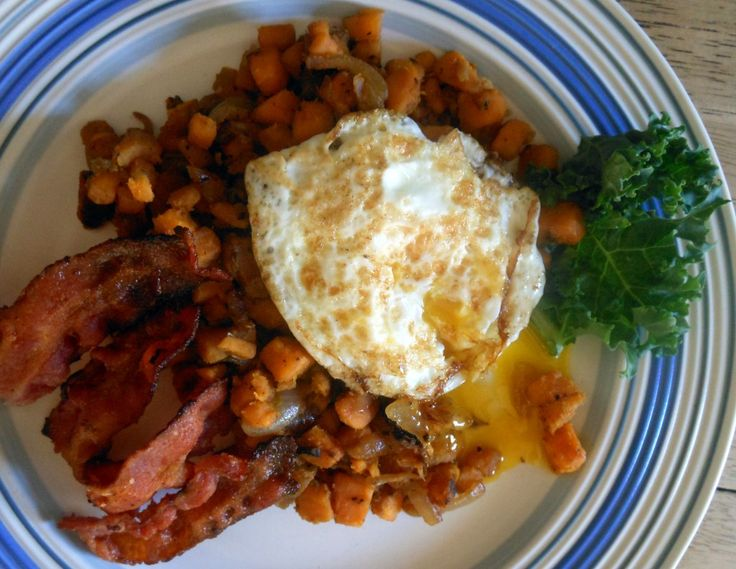 ! Brussels Sprout Hash with Sweet Potato and Bacon | Recipe | Sprouts ...