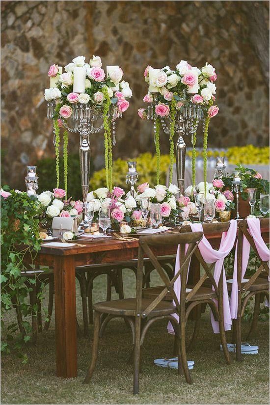 romantic rose reception ideas @weddingchicks
