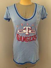MLB Rangers Texas Ladies Garment Wash V-Neck T-Shirt Size Small NWT