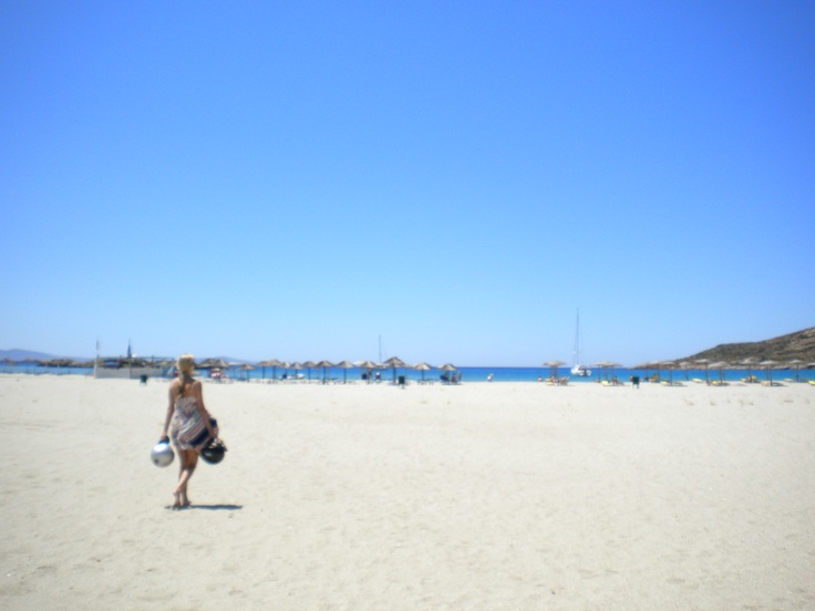 Manganari Beach in Santorini