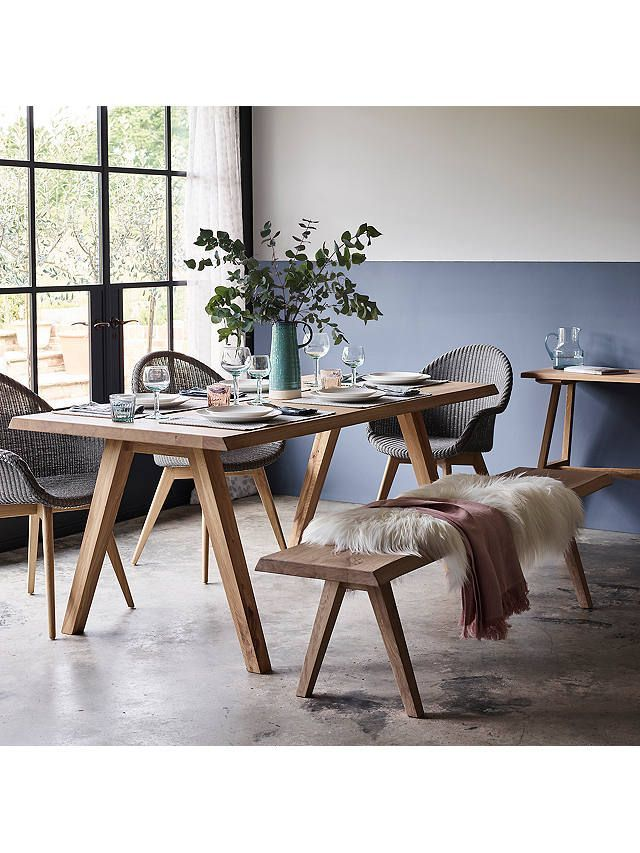 Croft Collection Lorn 6 Seater Dining Table Oak In 2020 6 Seater Dining Table Dining Table Chairs Oak Dining Table
