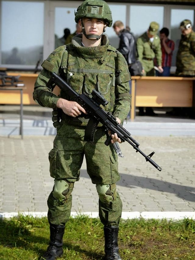 Russian army Ratnik future soldier: new Kalashnikov AK-12 assault rifle. Ratnik comprises about 50 components, including firearms, body armor and optical, communication and navigation devices, as well as life support and power supply systems. . https://www.google.sk/search?q=Ratnik&es_sm=122&tbm=isch&tbo=u&source=univ&sa=X&ei=QPdLU9i2L8v-ygOTioHYBg&ved=0CDEQsAQ&biw=1280&bih=933