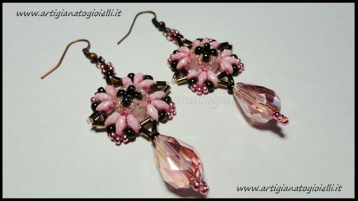 #superduo #twinbeads #beadwork #earrings http://youtu.be/fLfGCa-C4js