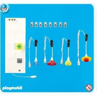 Playmobil Lighting Set 2 by Playmobil. $39.99. This item is part of the Direct Service range. This range of products are intended as accessories for or additions to existing Playmobil sets. For this reason these items come in clear plastic bags or brown cardboard boxes instead of a colorful retail box.. 3.9 x 7.9 x 2 inches. For Suburban House #4279 only.