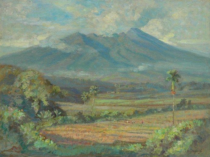 Ernest Dezentjé (Jatinegara (Nederlands-Indië) 1884-1972 Jakarta (Indonesië)) Sawa's in Indonesië