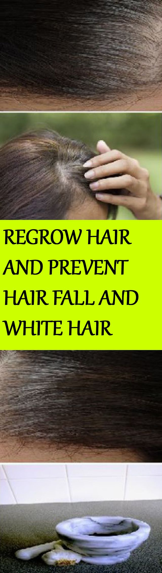 IT ONLY TAKES 5 MINUTES TO ELIMINATE WHITE HAIR, REGROW HAIR AND PREVENT HAIR FALL!