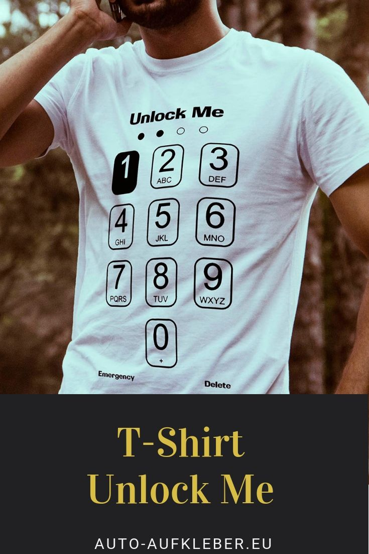 online store 07ee1 56a80 Herren T-Shirt Unlock Me | Coole und lustige Männer T-Shirts ...