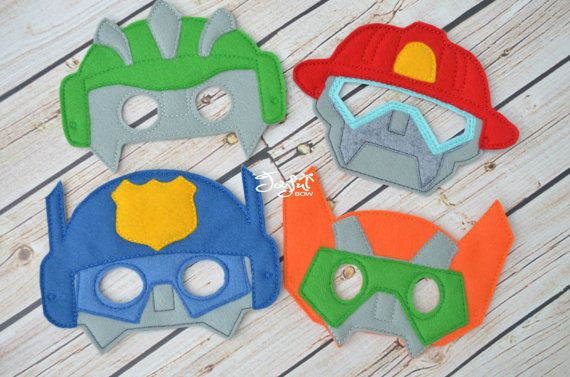 Transformer Rescue bot inspired masks by ajoyfulbow on Etsy