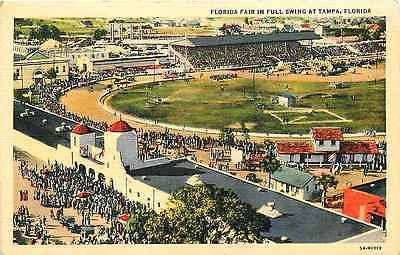 Tampa Florida FL 1935 Aerial View Florida Fair Antique Vintage Postcard