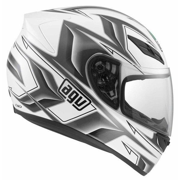 NEW AGV K4 EVO ARROW WHITE/GUNMETAL LARGE LG 0101-6245 #AGV