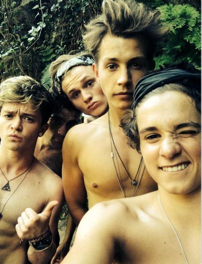 The Vamps in Spain! Is it just me or does Tristan look like he's wearing makeup?