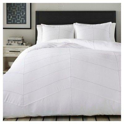 White Courtney Comforter Set (Full/Queen) - City Scene