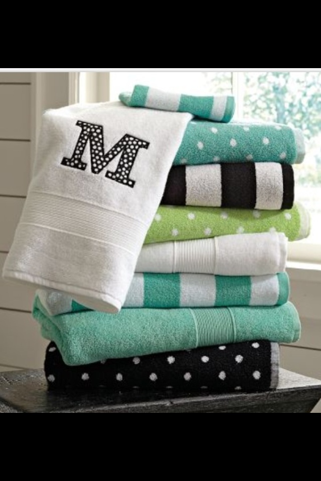 Towels for the dorm so you don't get your towels mixed up