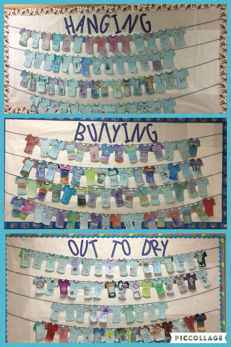 Bully free or anti-bullying week at Noel Primary! K-2 designed their own blue t-shirt to take a stand against bullying.