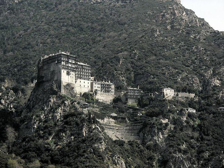Monastery Simonos Petra on Athos