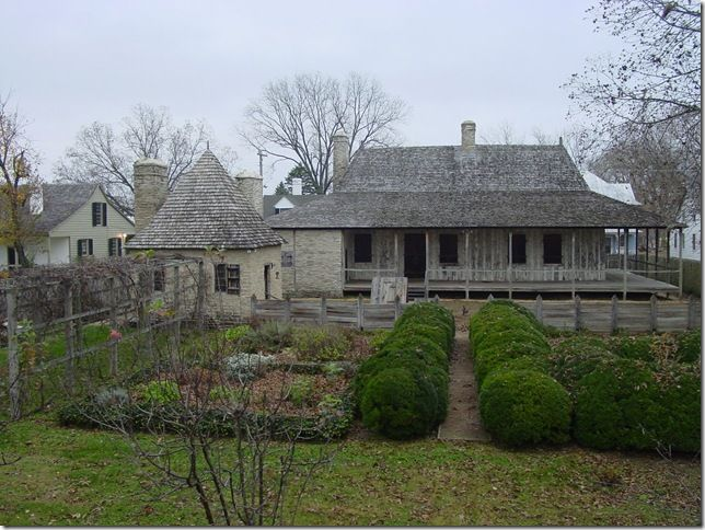 Bolduc House, St. Genevieve, Missouri (c. 1770) - one of the best preserved examples of French Colonial style architecture | thingsthatinspire.net
