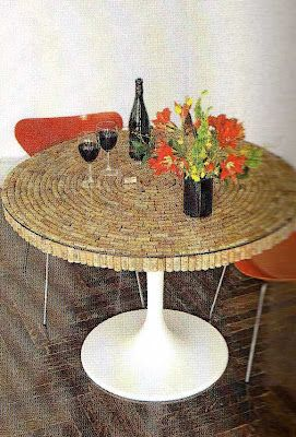 CRAZY FOR CORKS - Check out some of the most creative uses of used wine corks in the world! Having a cork table signifies that wine is the most important part of your life. Well, at least on the top 5 list…