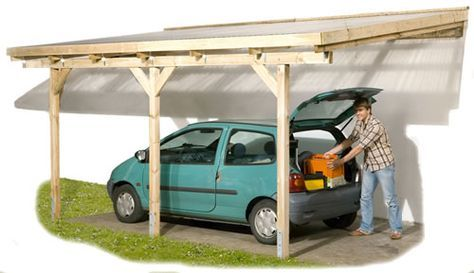 Weka lean-to carport. Could a clear plastic roof be made to look nice I wonder?