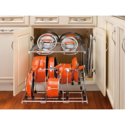 two tier kitchen drawer organizer light fixtures for pots & pan cabinet wire pull out | storage/cabinet inserts ...