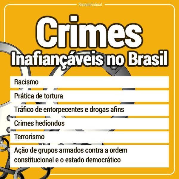 CRIMES INAFIANÇÁVEIS !