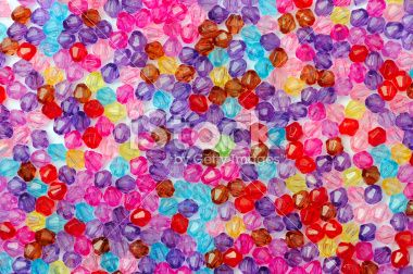 Multi Colored Jewelry Beads Royalty Free Stock Photo