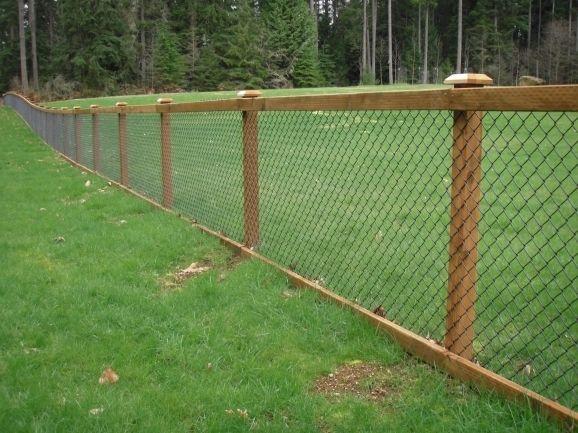 Wood Slats For Chain Link Fence Fence Ideas Fence Design Hog