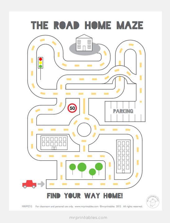 Fun Printable Mazes For Kids Mr Printables Mr