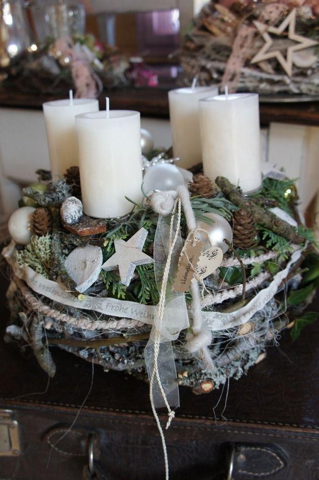 Ber ideen zu rustikale weihnachten auf pinterest for Adventskranz bestellen