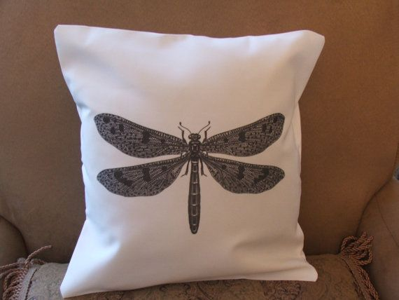 dragonfly decorative pillow cover throw pillow by TwirlyGirlTees, $14.99