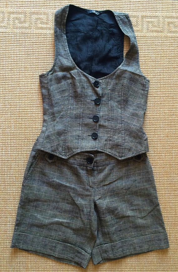Liu Jo suit large size vintage twin set vest and pants