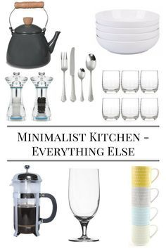 Essentials for a Minimalist Kitchen - Items You Need In Your Kitchen   Kitchen Essentials   First Home Essentials   First Home Checklist