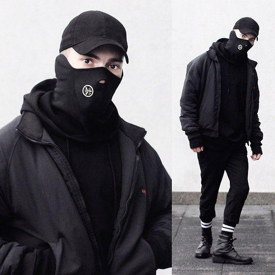 Get this look: http://lb.nu/look/8912702  More looks by Mario Mocanu: http://lb.nu/mariomocanucom  Items in this look:  H&M Black Hat, Levi's® Jacket, H&M Xo Hoodie, Sisley Boots   #allblacklook