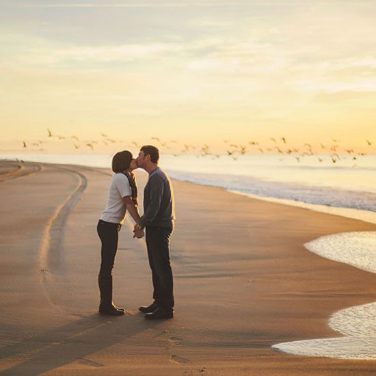 A stunning sunrise engagement session  at the beach in Emerald Isle, NC!