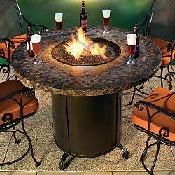 Contessa Round Outdoor Fire Table