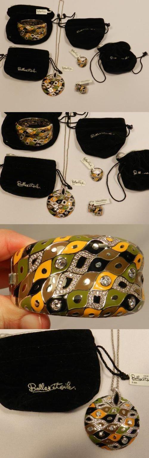 Other Fine Jewelry Sets 164328: 4 Belle Etoile $2080.Enamel Sterling Silver Pogona Earth Bracelet Pendant Ring -> BUY IT NOW ONLY: $849.99 on eBay!
