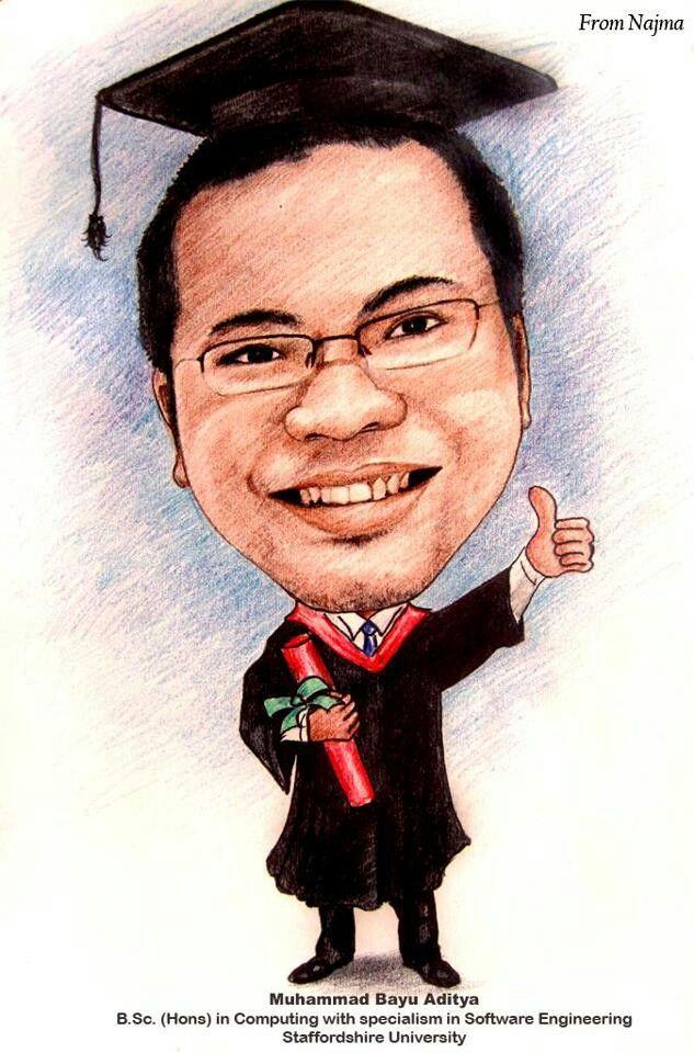 Gift caricature, karikatur online, jasa karikatur lucu