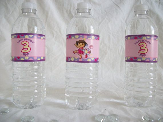 Dora the Explorer Themed Water Label  Printable by SugarTreePress