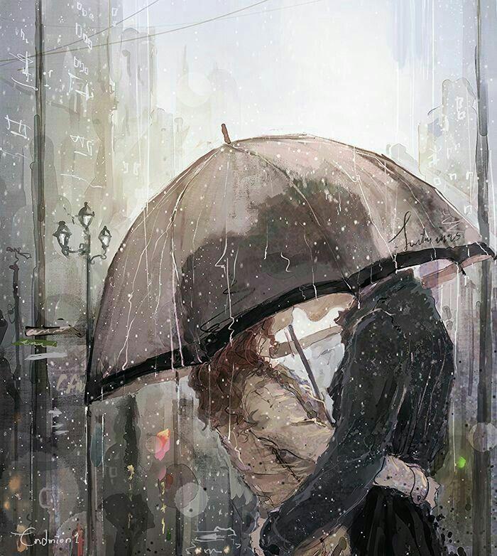 Wenn man sich im Regenpaar küsst, ist Regen eine wunderbare Sache, die auf der Welt und in der ganzen Welt passiert. –   #
