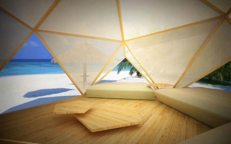"""Interior domo Braña como zona """"chill out"""""""